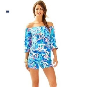 """Lilly Pulitzer Lana Romper in """"Hit the Spot"""" print"""